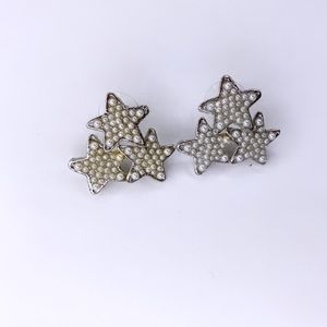 Clustered star stud earrings